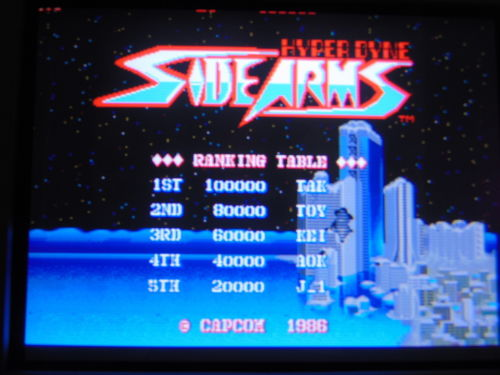 Capcom Side Arms Hyper Dyne PCB repair log [02.02.2020]